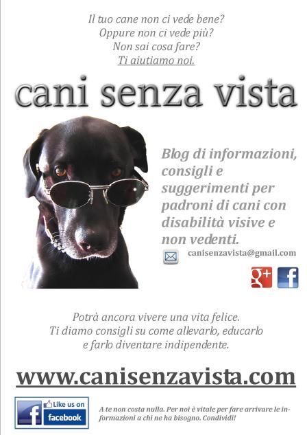 Volantino cani senza vista