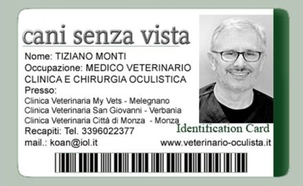 Cani senza vista Dr. Monti
